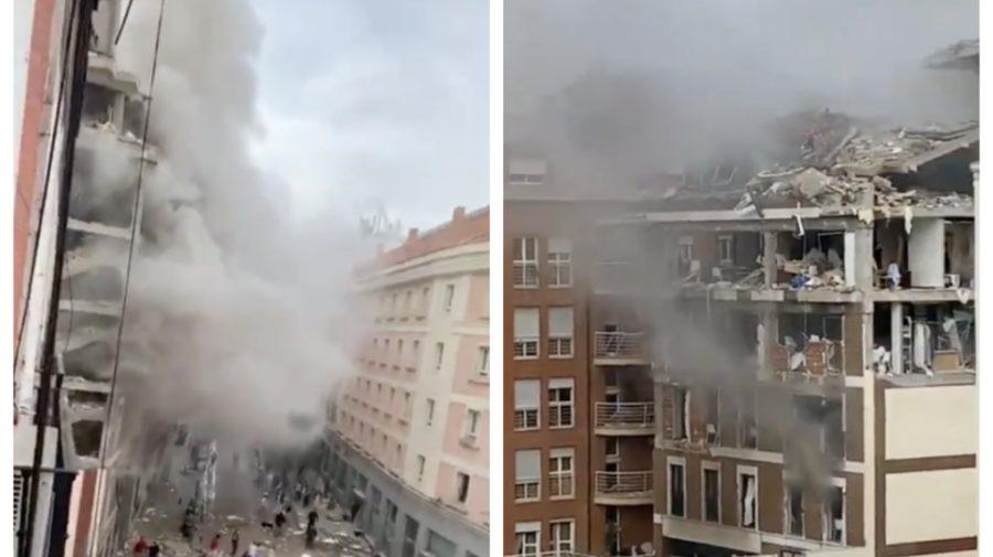 Explozie puternică la Madrid. O clădire a fost practic distrusă în urma deflagrației (VIDEO)