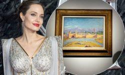 (FOTO) Angelina Jolie a vândut o pictură de Winston Churchill cu un preț record de 7 milioane de lire sterline