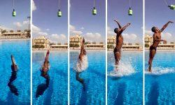 (VIDEO) Un nou record în Cartea Recordurilor Guinness. Un înnotător a realizat cel mai mare salt din apă
