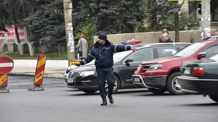 (VIDEO) NO COMMENT! Trafic parțial suspendat pe str. Ion Creangă din Chișinău