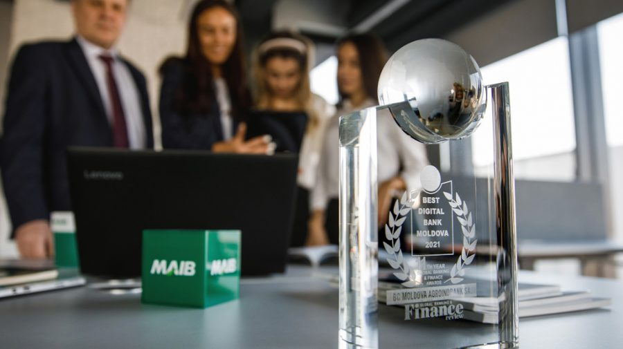 "Moldova Agroindbank, premiată al doilea an consecutiv cu trofeul ""Best Digital Bank Moldova"""