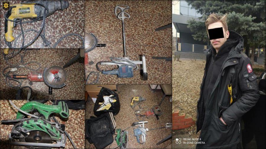 Tânăr din Telenești, riscă 4 ani de închisoare pentru furtul unor instrumente electrice de pe un șantier din Durlești