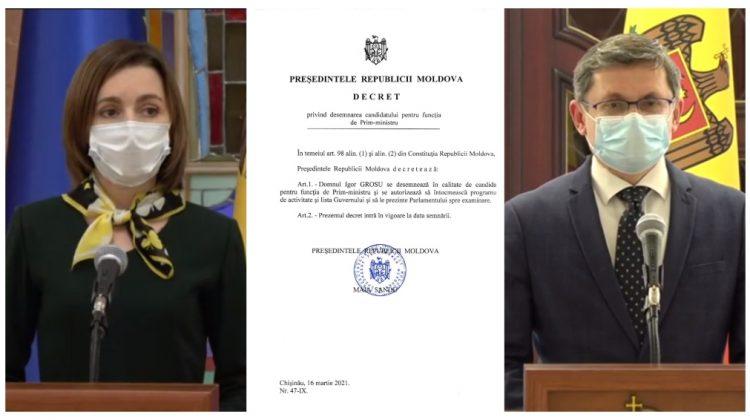 (DOC) Decretul prezidențial semnat de Maia Sandu privind desemnarea lui Igor Grosu la funcția de premier