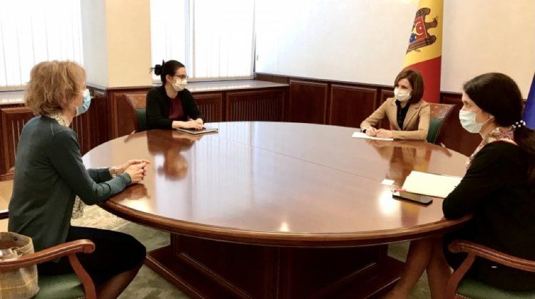 Maia Sandu și reprezentanții Elveției, în discuții privind situația sanitară din Moldova