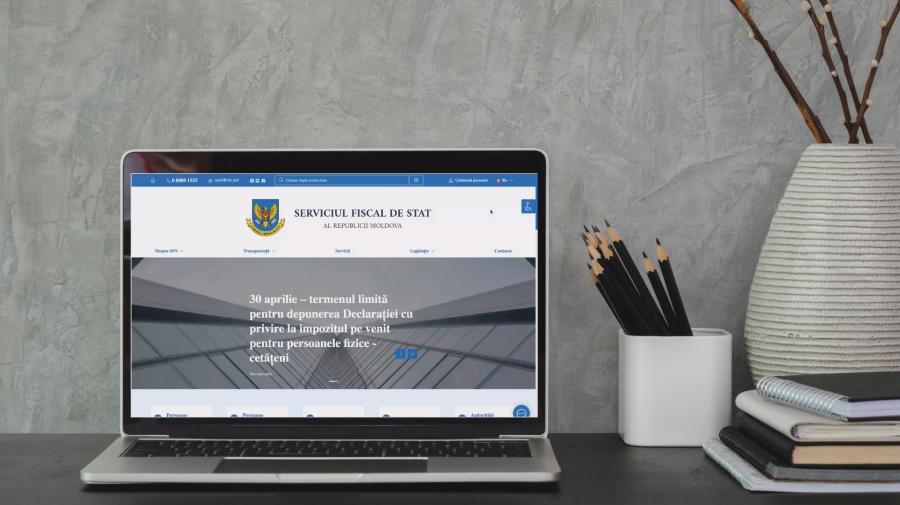 Serviciul Fiscal de Stat anunță despre lansarea noii pagini-web a instituției