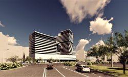 """Hotelul """"Național"""" – simbol al viitorului. Pogolșa, Modîrcă și Botgros, despre construcția noului complex modern"""