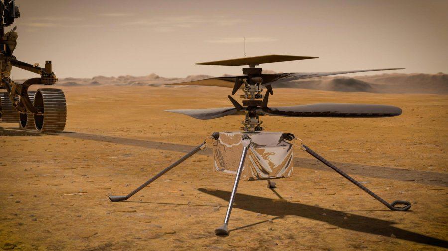 (VIDEO) Elicopterul NASA de pe Marte a efectuat primul zbor. Prima decolare monitorizată și controlată pe altă planetă