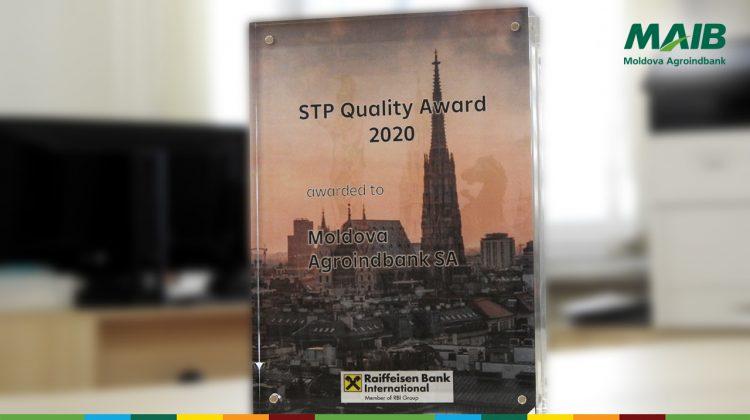 Moldova Agroindbank – distinsă cu Premiul pentru Excelență în Calitate STP de Raiffeisen Bank International