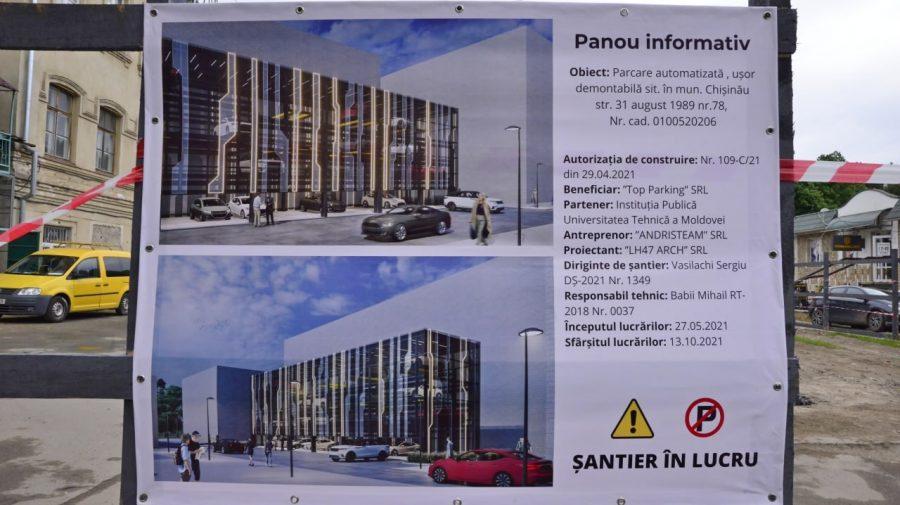 (FOTO) A fost dat startul construcției primei parcări automatizate din Chișinău. Unde va fi și câte locuri va avea