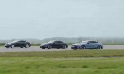 (FOTO) Cea mai rapidă maşină electrică. Cine a câştigat cursa dintre Audi, Porsche şi Tesla