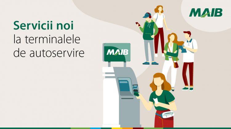 Terminalele de autoservire MAIB – mai multe servicii, mai rapid și mai comod