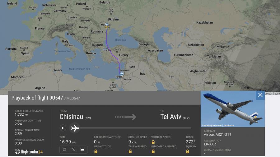 Vor fi sau nu anulate zborurile din Chișinău spre TEL AVIV? Ce spun reprezentanții  Air Moldova