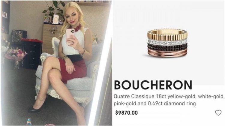 Ce spune Marina Tauber despre inelul de aproape 10 mii de dolari : Este original. De unde îl are