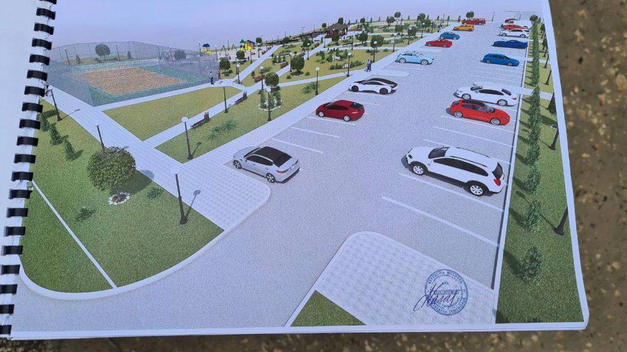 (FOTO) Locuri de parcare, terenuri de joacă și agrement. Cum va arăta jumătate de ha de pe bd. Mircea cel Bătrîn 26/4
