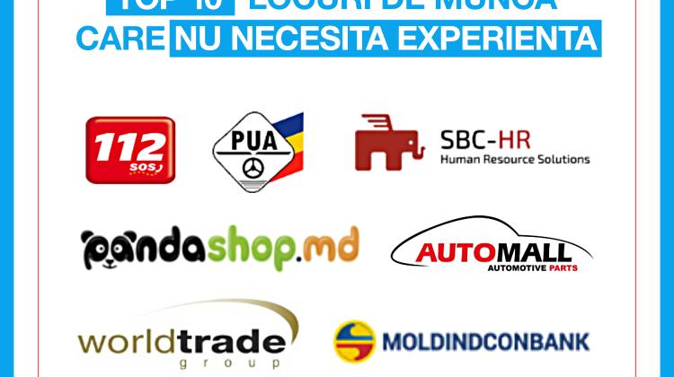 Rabota.md: TOP 10 locuri de muncă ce nu necesită experiență