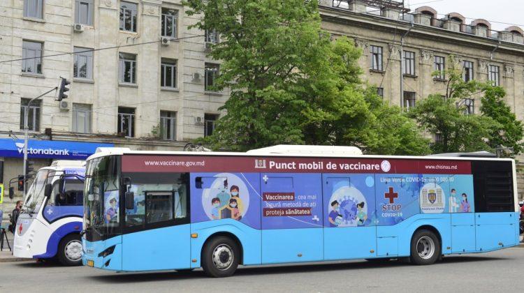 Unde vor staționa astăzi, 3 iunie, punctele mobile de vaccinare anti-COVID-19 din Chișinău