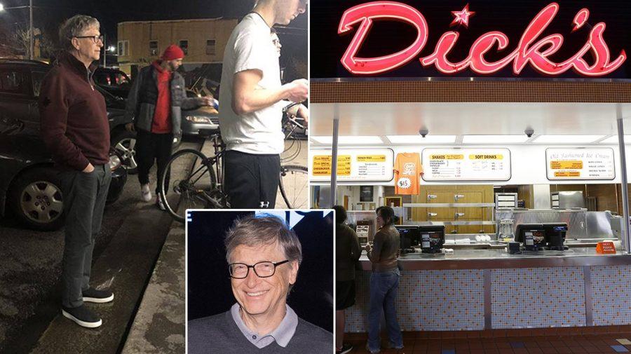 Bill Gates a uitat de bogăție și, simplu, stă în coadă după un burger. FOTO cu alte 4 vedete care nu țin cont de stele