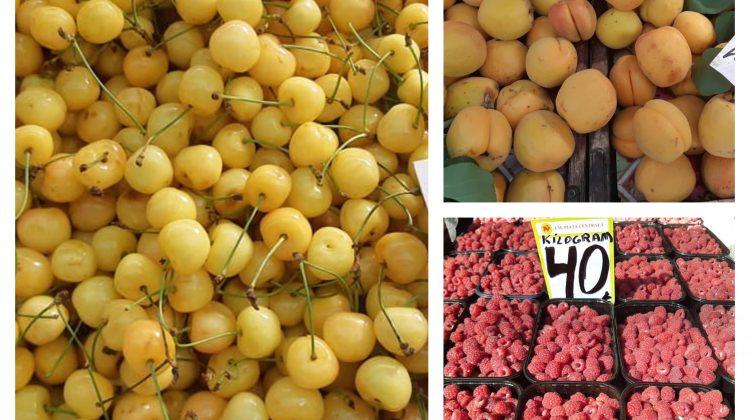 (FOTO) Coacăză roșie, agriș, piersici, caise, zmeură – găsiți la Piața Centrală! Prețurile afișate astăzi, 30 iunie