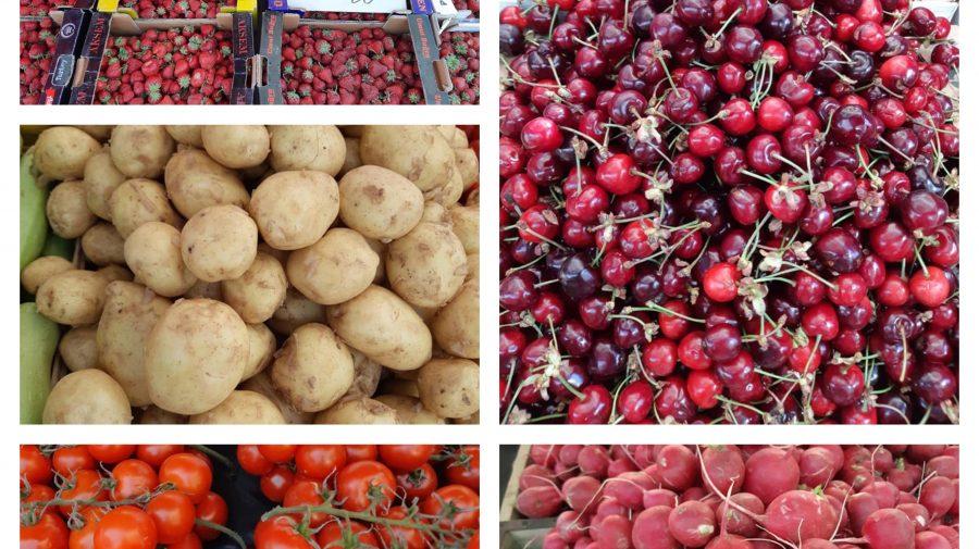 Căpșunele – mai ieftine! Ce prețuri sunt, astăzi, în Piața Centrală la fructe, legume și verdeață