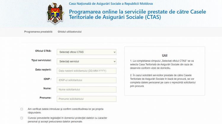 CTAS reamintește: Programaţi-vă în regim online pentru toate prestaţiile sociale
