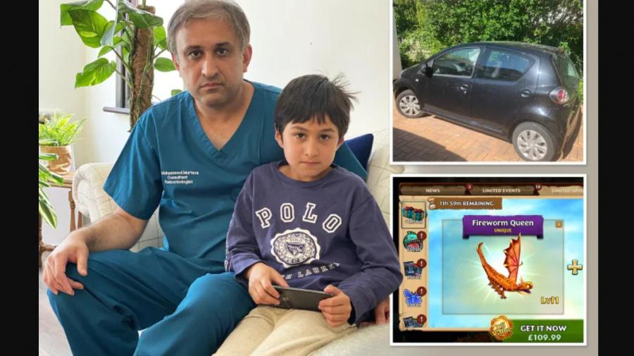 Tatăl forțat să-și vândă mașina de familie, după ce fiul, de 7 ani, a cheltuit 1300 de lire sterline într-un joc
