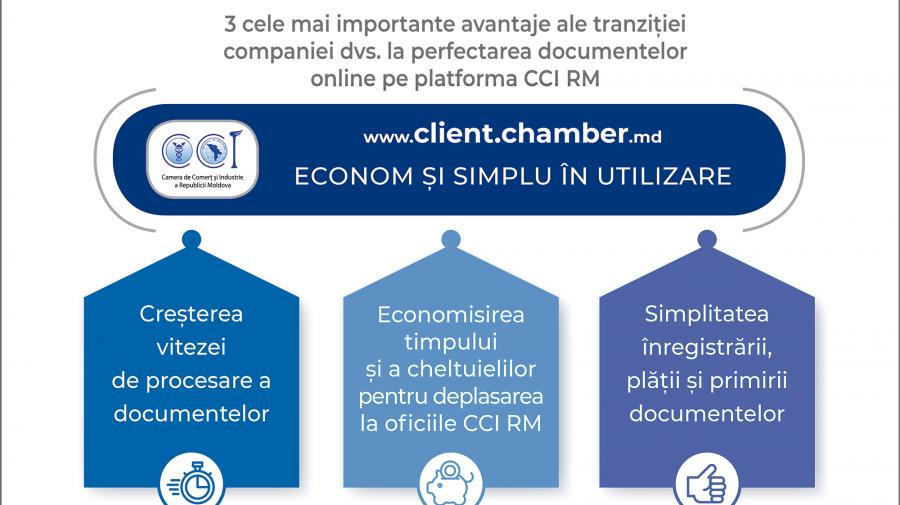 Serviciile CCI a RM mai accesibile! Rapoartul privind expertiza și evaluarea va fi eliberat în format online