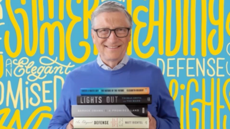 Listă de lectură pentru această vară recomandată de Bill Gates. Se regăsește și cartea lui Barack Obama