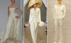 (FOTO) Începe sezonul nunților! Costume de nuntă pe care le poate alege o mireasă modernă