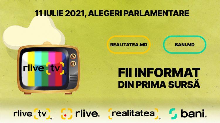 Fii informat din prima sursă! Alegerile parlamentare sunt în DIRECT LA RLIVE TV – RLIVE.MD, REALITATEA.MD ȘI BANI.MD