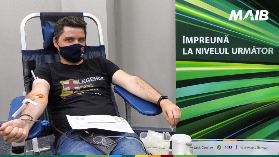 MAIB salvează vieți: 43 de angajați au donat 22 de litri de sânge și plasmă