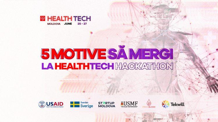 5 motive pentru a participa la HealthTech Hackathon. Nu rata șansă să câștigi 5 mii de dolari