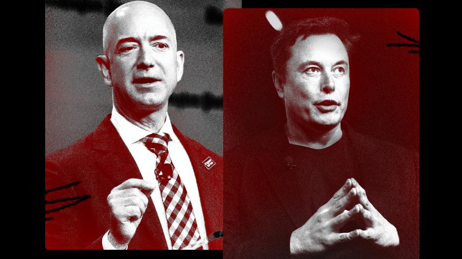 """""""A fi miliardar este mult mai greu decât pare!"""": Jeff Bezos și Elon Musk vor să-și """"ardă"""" averile în spațiu"""