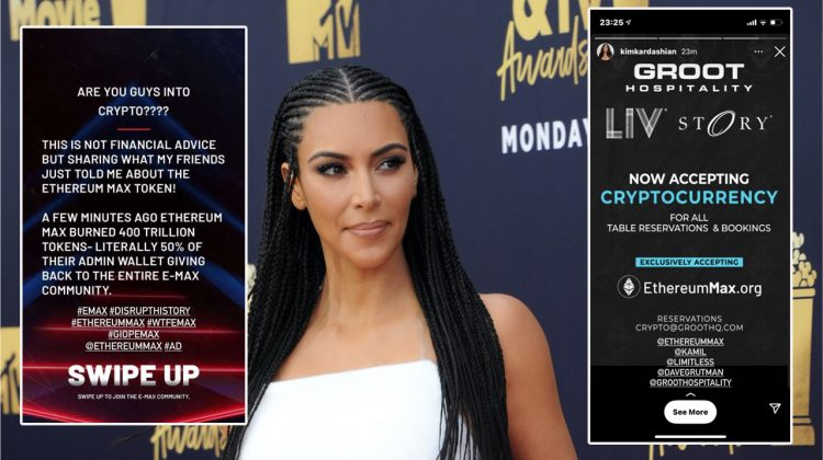 Kim Kardashian West, plătită pentru a face criptomonedelor reclamă pe Instagram. Cât costă serviciile ei