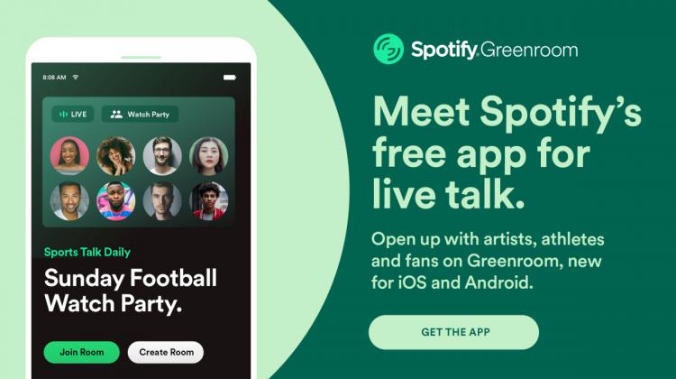 Spotify a lansat Greenroom, o rețea de socializare audio similară cu Clubhouse. Funcționează atât pe Android cât și iOS