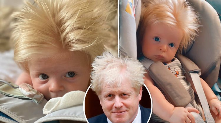 """(FOTO) Bebelușul de trei luni care a devenit celebru datorită asemănării sale cu Boris Johnson. """"Un mini Boris"""""""