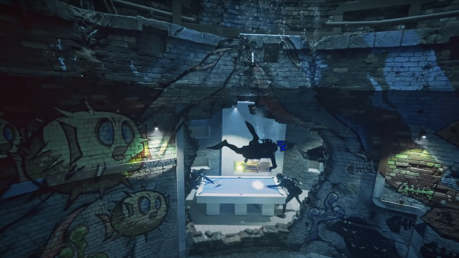 VIDEO. Cea mai adâncă piscină din lume s-a deschis în Dubai. Conține un oraș scufundat, cu galerii și încăperi