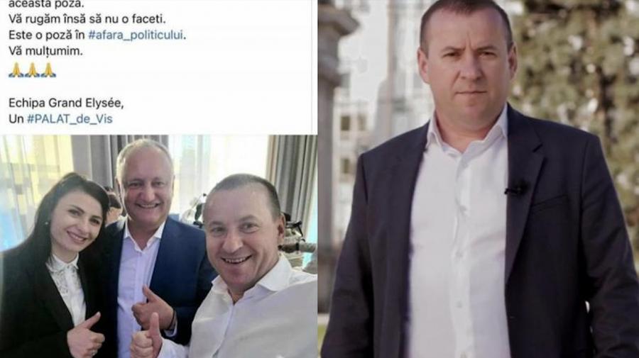 """Om de afaceri, """"ars pe rug"""" pentru că apare într-o fotografie cu Igor Dodon. Partidul l-a dat afară? """"Am depus cererea"""""""