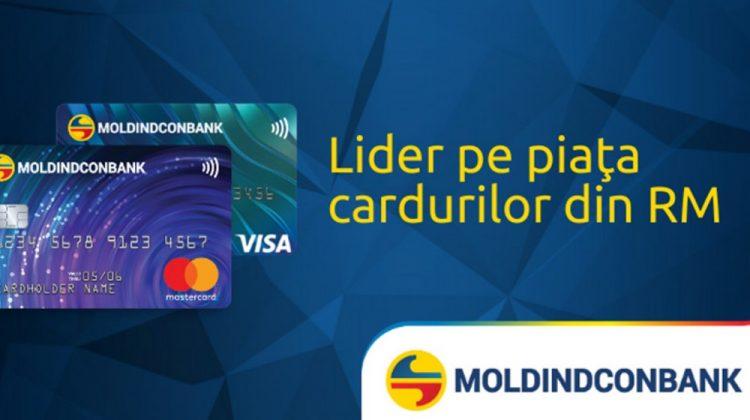 Fiecare al treilea deţinător de card din Moldova este clientul  Moldindconbank