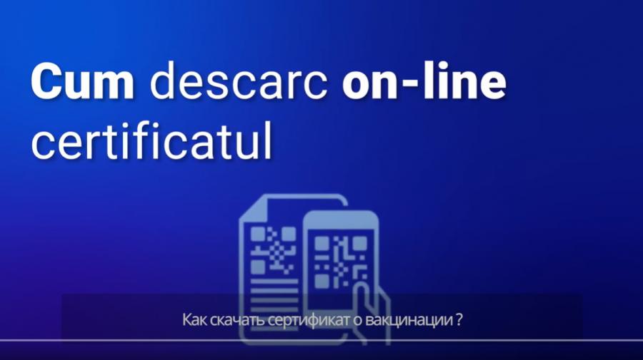 (VIDEO) Cum descarc online certificatul de vaccinare? Ghid pas cu pas pentru cetățenii Republicii Moldova