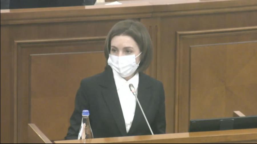 (VIDEO) Maia Sandu, DISCURS tăios în debutul Ședinței Parlamentului: Declar toleranță zero față de corupție