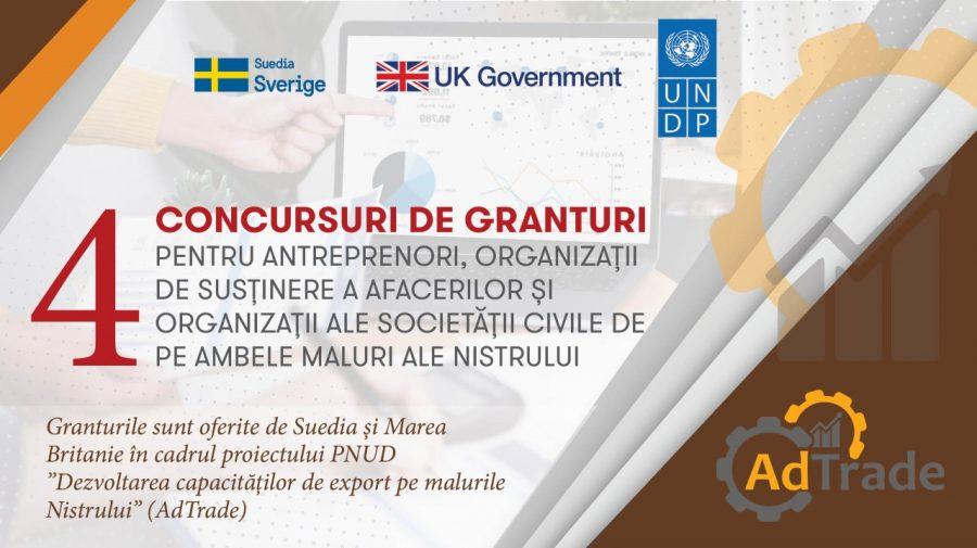 Concursuri de granturi! Se oferă bani pentru dezvoltarea afacerilor inovative, parteneriate și promovarea exportului