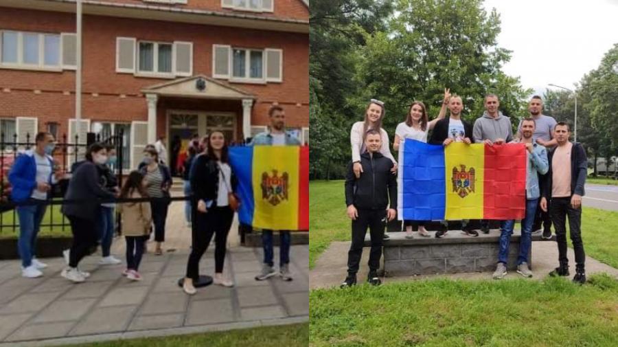 (FOTO) Diaspora votează! Cum se desfășoară alegerile la sediul misiunii din Bruxelles