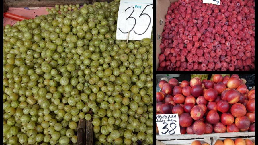 Pomușoarele – hitul sezonului la Piața Centrală! Ce prețuri sunt afișate la fructe și legume
