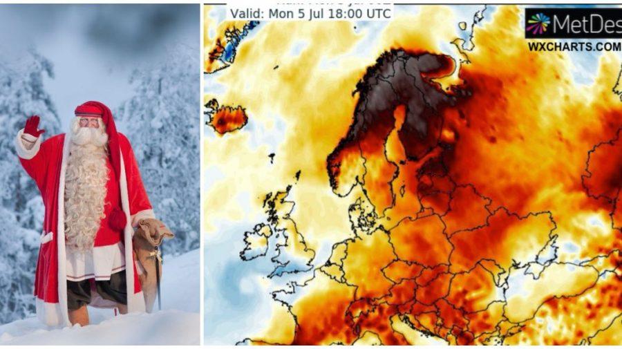 Val de caniculă în țările nordice. Laponia, țara lui Moș Crăciun, a stabilit un record de căldură
