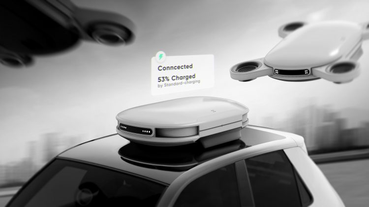 Ideea inedită a unor ignineri din Coreea de Sud: mașinile electrice ar putea fi reîncărcate în mers de drone