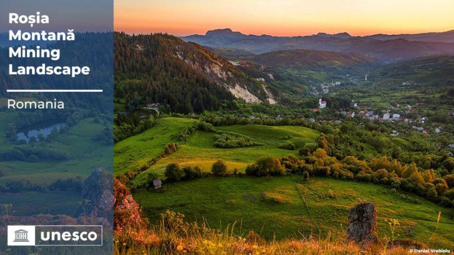 Situl Roșia Montană a fost înscris în patrimoniul mondial UNESCO