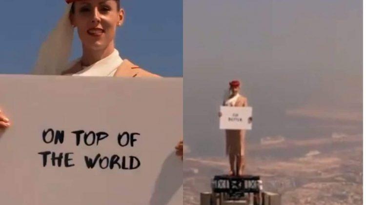 (VIDEO) Publicitatea devenită virală pe internet! Cum arată reclama filmată pe cea mai înaltă clădire din lume