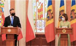 Circa două ore de discuții. Solicitările Maiei Sandu către președintele Poloniei și subiectele abordate de oficiali
