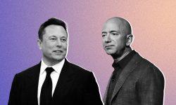 Elon Musk și Jeff Bezos se ceartă full-time. Motivul conflictului dintre cei doi miliardari