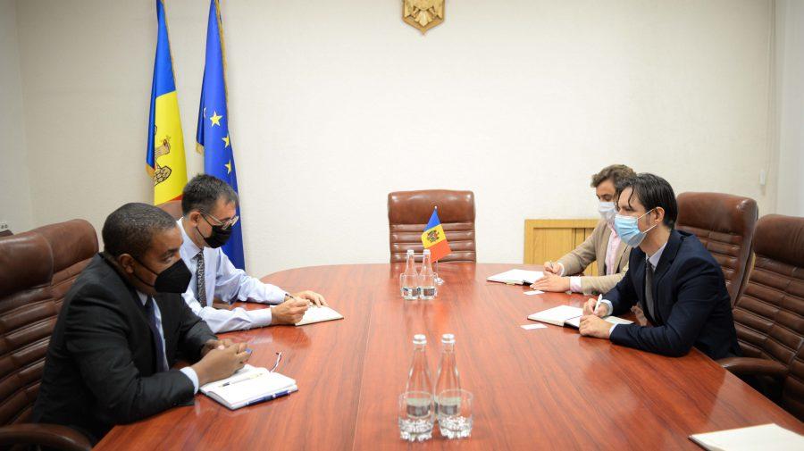 Ministrul Sergiu Gaibu s-a întâlnit cu reprezentatul permanent al FMI în Moldova